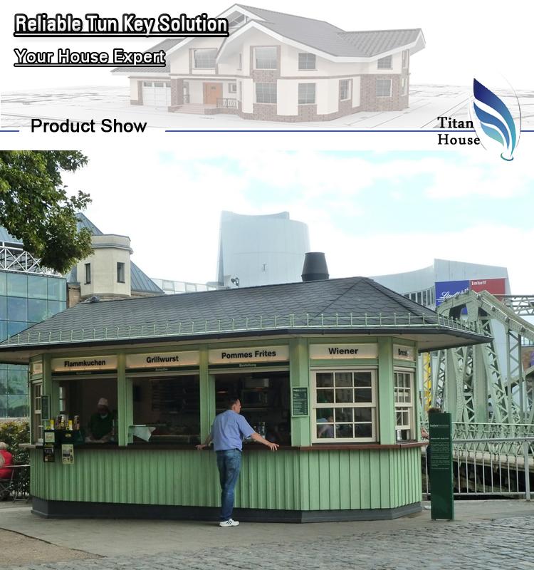 Mobile Prefabricated Fast Food Kiosk Restaurant For Sale