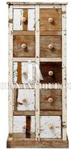 FURNITURE RECLAIMED ANTIQUE WOODEN DISTRESSED FINISH DRAWER CHEST IA-DIS-129
