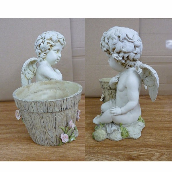 Garden ornaments polyresin child angel statues