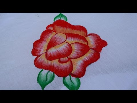FABRIC PAINTINGS Up and Down Red Rose/Rose flower painting /rose flower design