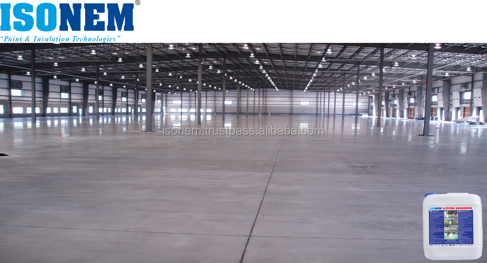 ISONEM NANO LITHIUM HARDENER, LIQUID CHEMICAL CONCRETE FLOOR HARDENER, SEALER AND DENSIFIER