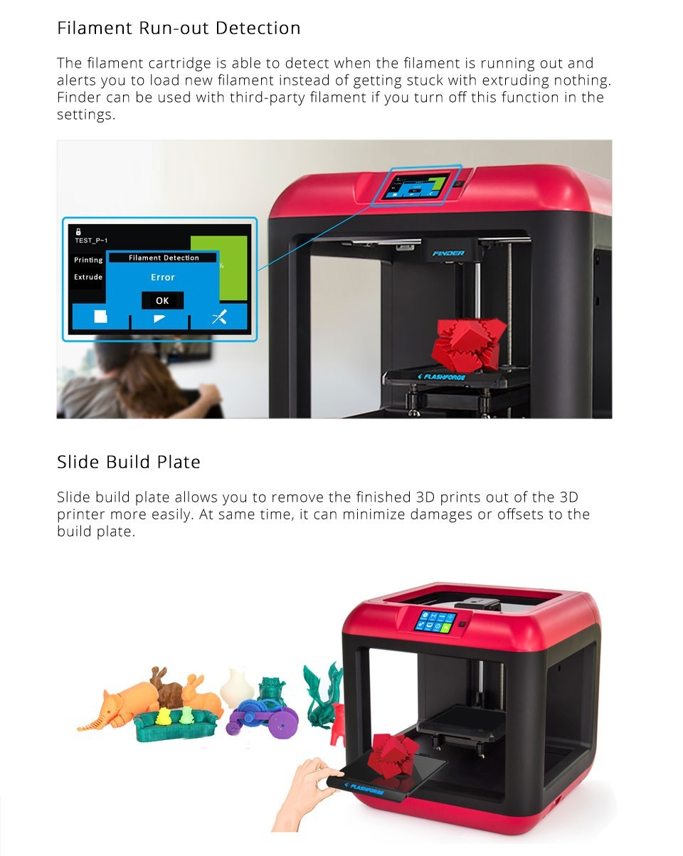 Flashforge Hotsale!!Multicolor desktop 3d printer,industrial 3d printer