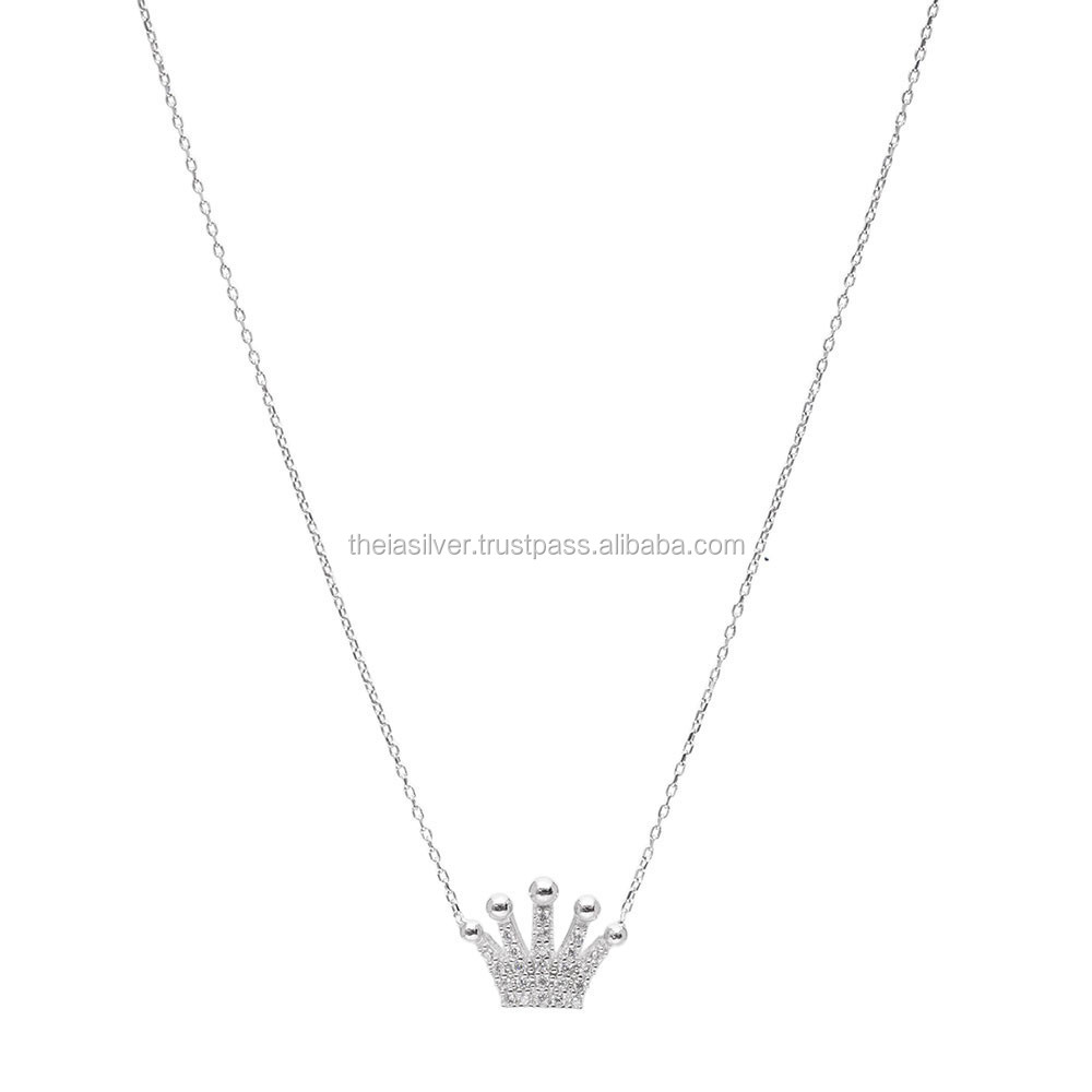 gold princess artfull shop silver charms and expression crown necklace