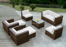 Product Ingrid Yard Poly Rattan Furniture Round coffee PE Rattan/wicker Sofa/lounge