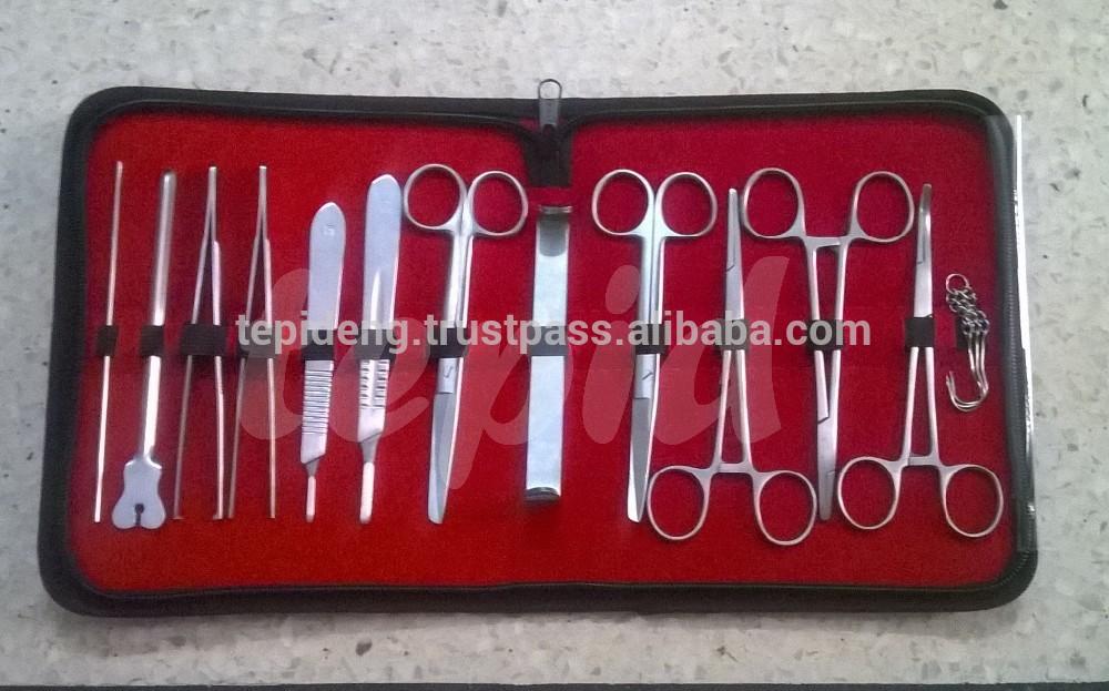 Mổ xẻ bộ dụng cụ, mổ xẻ kit cho thú y dụng cụ phẫu thuật