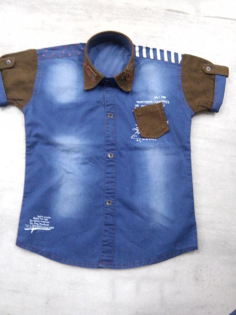 Shirt design blue cotton - Indian New Fashion Boys Cotton Black Shirt Design