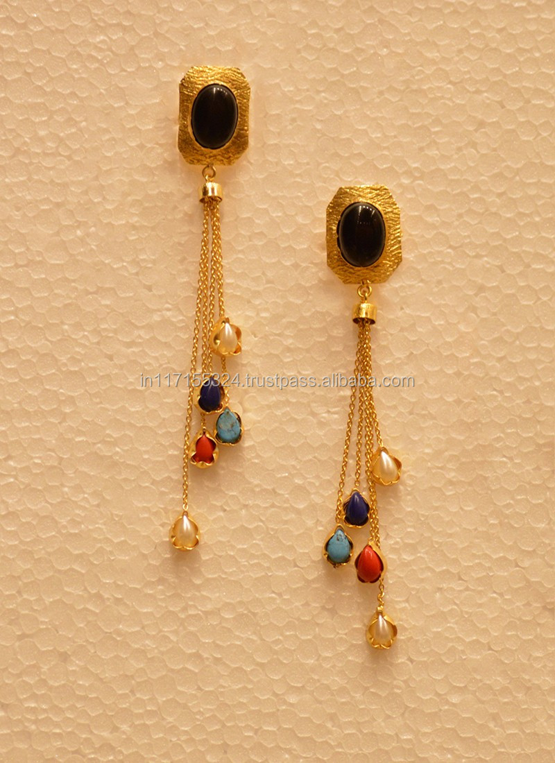 Fashion Earring Designs New Model Earrings 40616 Copper Alloy