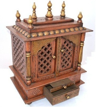 Small Hindu Temple With Doors Design For Home Buy Wooden Temple