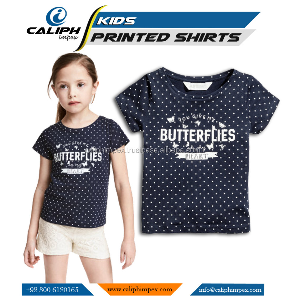 Girls Top With Custom Prited Design T Shirt Personalised Kids Wears