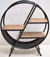 industrial design display round cabinet for home