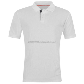 401a7d5b2 100% Cotton Custom Men Plain White Polo Shirt with Contrast inside Placket  and Red Piping