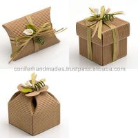 custom made paper boxes made from ribbed kraft paper and can be embellished as per your request
