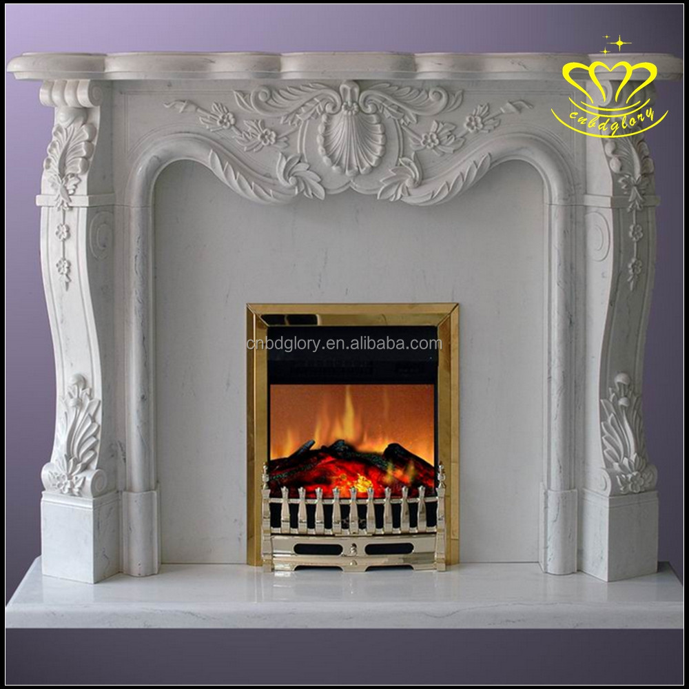 China Suppliers Wholesale Natural Stone Sculpture New Product Hand Carving Marble Fireplace For Home & Garden Decorate