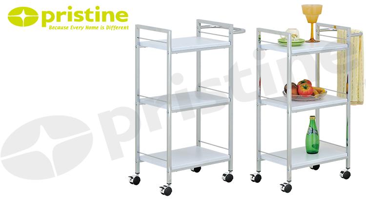 Hand Carts Trolleys Metal Kitchen Furniture 3 Tier Storage Cart