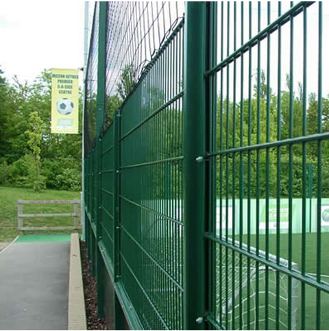 Pvc Coated Ornamental Double Loop Wire Fence868 Double Wire Mesh