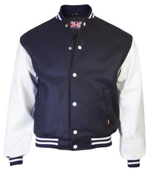 Mens Apparel Stylish Winter Leather Bomber Baseball Jacket ...