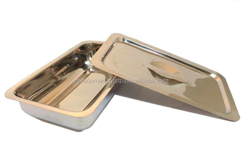 Surgical Instrument Tray with Lid Holloware Dental Medical /Surgical instruments
