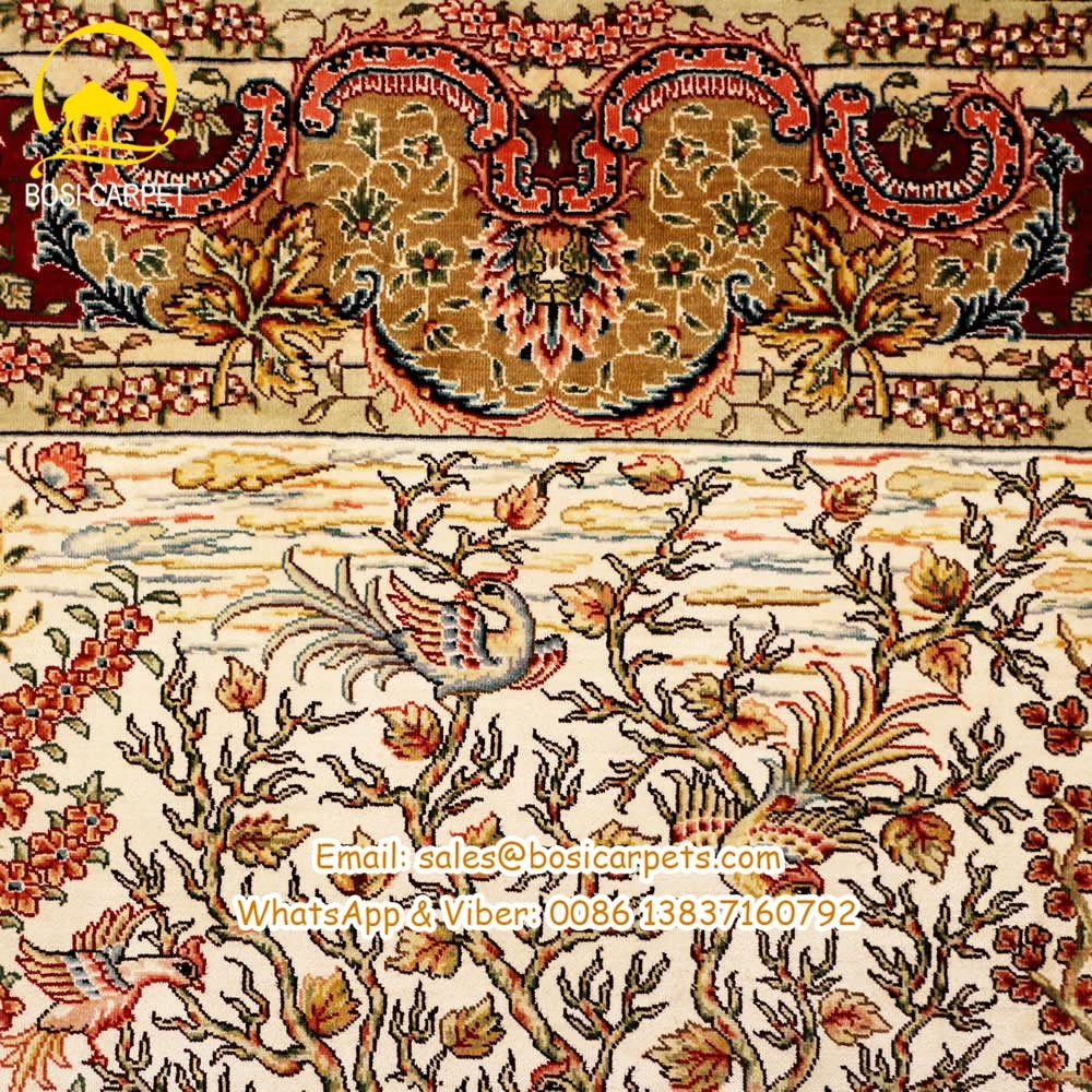 Top Quality 3x5 Hand Made Handknotted Persian Silk Rug Iranian Carpet