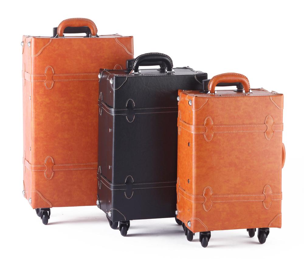 Vintage Luggage Tsa Lock Mens Carry Bag Vintage Suitcase Trolly ...