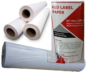 Wholesale hotsale paper rolls Red Label Paper 841 mm x 200 m 80 GSM 3 INCH CORE MEDIA LOOSE ON CORE -Wholesale Paper rolls
