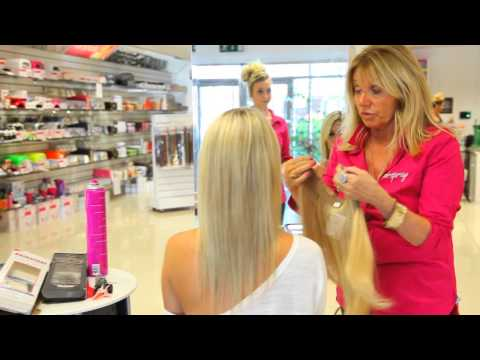 Hairspray Halo - The No Clips Extension Hair on-a-Wire)