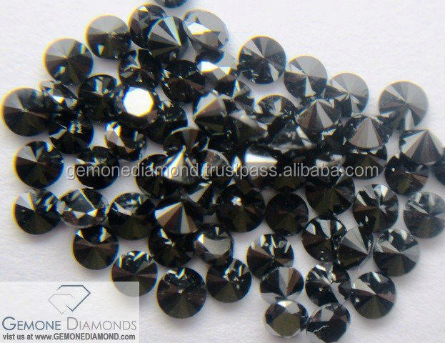 Natural small loose black round cut diamonds used for Jewellery