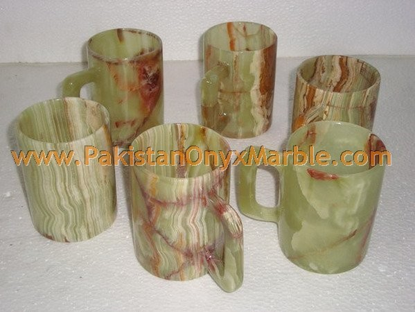 DECORATIVE ONYX COFFEE CUPS OR MUGS HANDICRAFTS