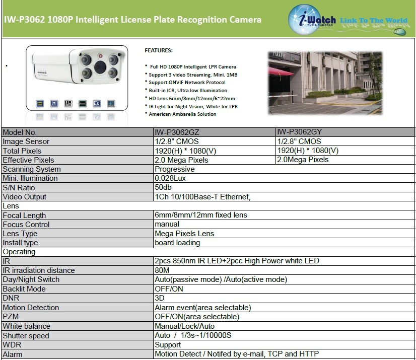 Iw p3062gz intelligent lpr with led ip cctv camera buy ip cctv iw p3062gz intelligent lpr with led ip cctv camera publicscrutiny Images