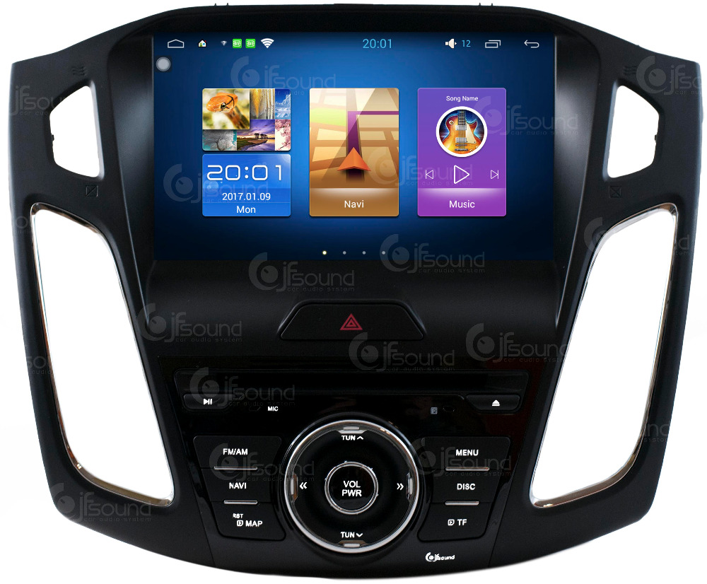 CUSTOM FIT FOCUS 2015 ANDROID 6.0 WIFI GPS BLUETOOTH USB SD MP3 FULL HD XTRONS EONON JFSOUND
