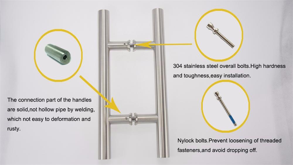 D Type External Commercial Glass Entry Door Handles - Buy Entry Door ...