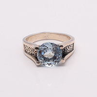 LOVE AND APPRECIATION!! 925 SOLID STERLING FINE SILVER JEWELRY BLUE TOPAZ RING SILVER JEWELRY FROM INDIA
