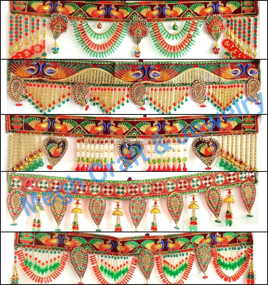 Wholesale Beaded Crystal Work Wall Hanging Diwali Special Decor Items Pearl Beaded Door Hanging Traditional Wedding Decor Item Buy Crystal Beads Wedding