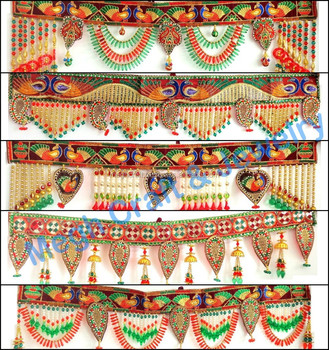 Wholesale beaded crystal work wall hanging diwali special decor wholesale beaded crystal work wall hanging diwali special decor items pearl beaded door hanging junglespirit Image collections