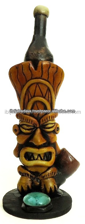 Figurine Shaped Hand Crafted Smoking Pipes - Tiki
