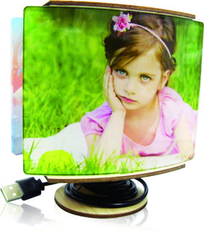 Sublimation Acrylic starter kit, customized printable LED desktop lamp with your photo