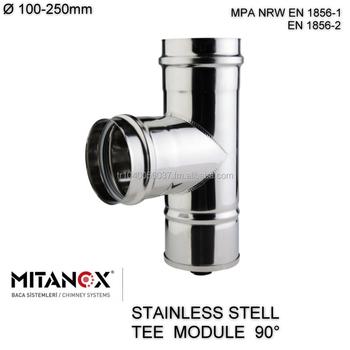 Stainless Steel 304 316l Chimney Flue Pipe Tube Pellet Stove Pipe