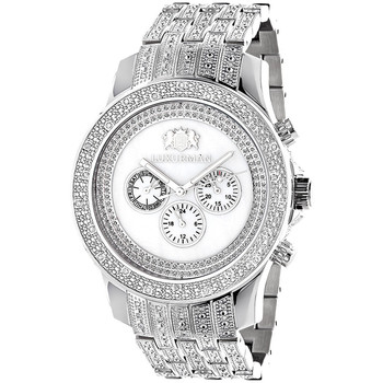 Goede Luxurman Heren Diamanten Horloge 1 Karaat Diamant Band W - Buy PV-82