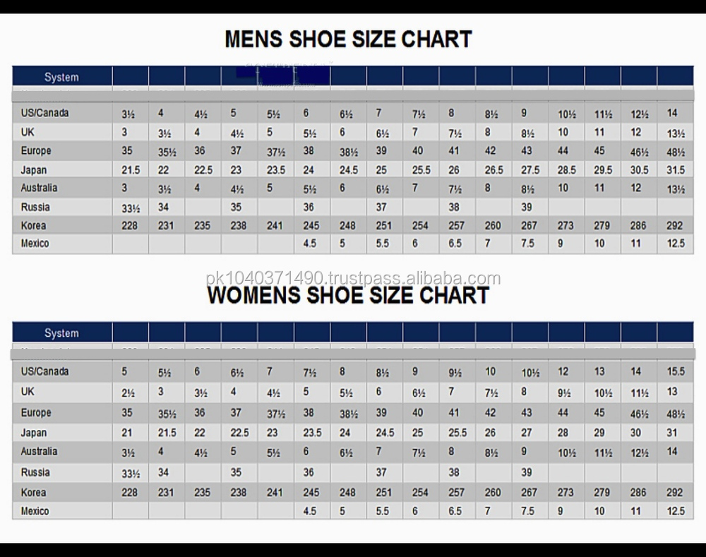 skechers shoe size
