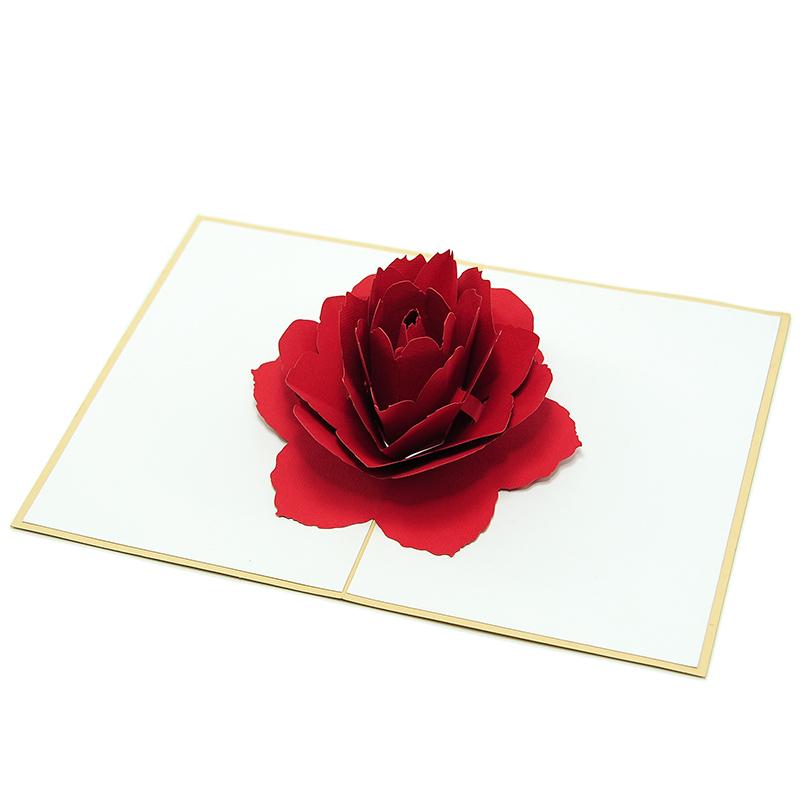 Как сделать открытку с розочкой внутри