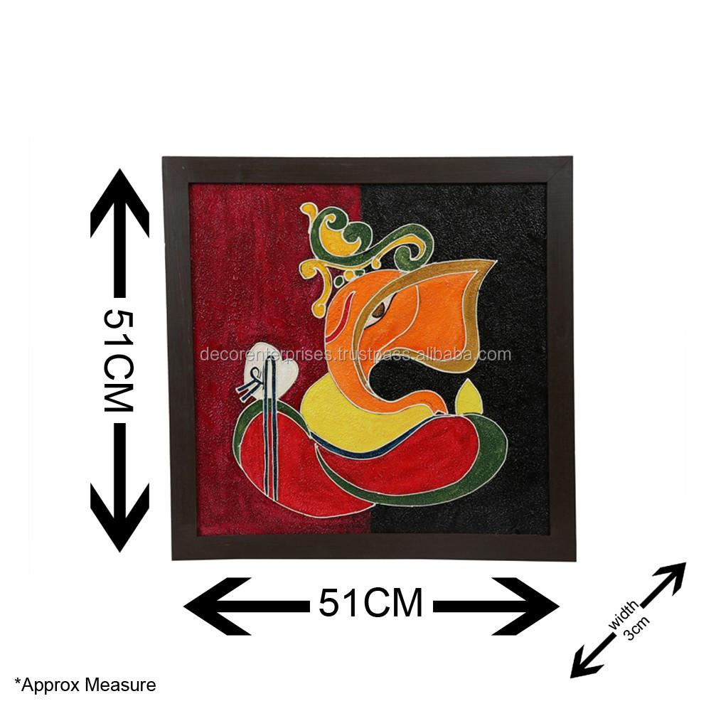 Ganesha Pintura Textura Con Marco De Madera - Buy Product on Alibaba.com