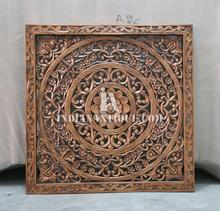 FLORAL DESIGN HAND ENGRAVED WOODEN DECORATIVE MULTI PURPOSE PANEL IA-HCCP-04