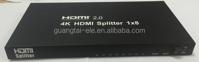 8 Port HDMI Splitter Volle HD 1X8 Hub 4 karat HDMI Splitter 1 in 8 Repeater 3D 1080 p