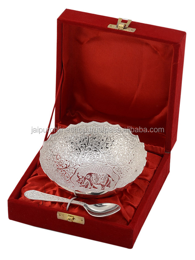 Superb Gift Items For Ladies Part - 5: Exclusive Brass Bowl U0026 Spoon Set For Corporate Gift / Wedding Gift / Ladies  Sangeet Gift