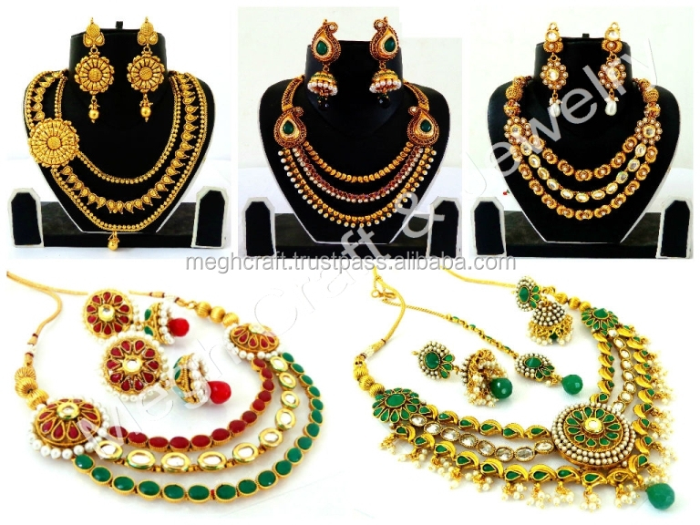 Indian Kundan Polki Jewellery Antique Indian Bridal Jewellery