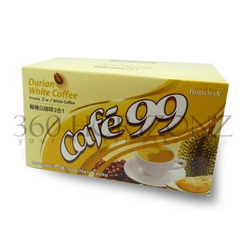 Cafe 99 Premix 3 In 1 Durian White Coffee 35g X 10sticks