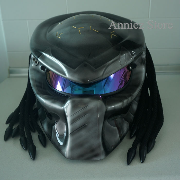 predator biker moto casque unique personnalis 100 main tri laser faisceau casque moto id. Black Bedroom Furniture Sets. Home Design Ideas