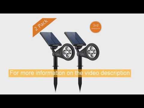 solar lights urpower 2in1 waterproof 4 led solar spotlight adjustable