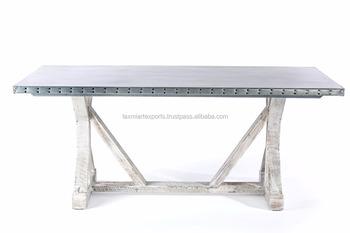 Tavolo Da Pranzo Industriale : Tavolo da pranzo design industriale in legno massiccio in