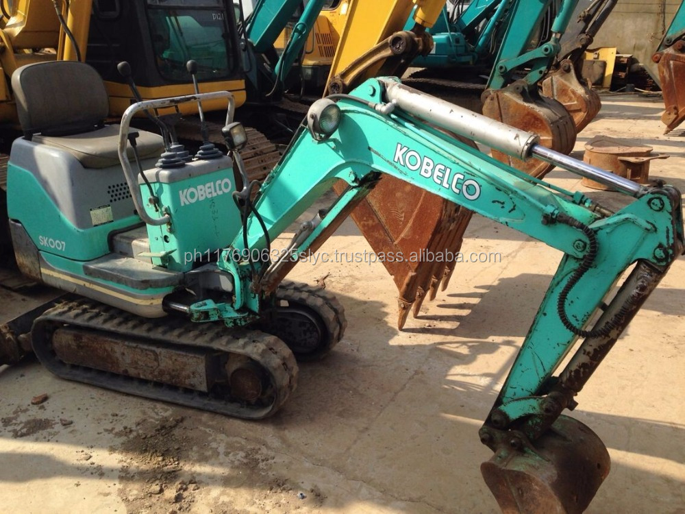 Used Construction Machinery Mini Kobelco Sk007, Cheap Price Used Kobelco Sk007 Hydraulic Crawler Excavator for sale