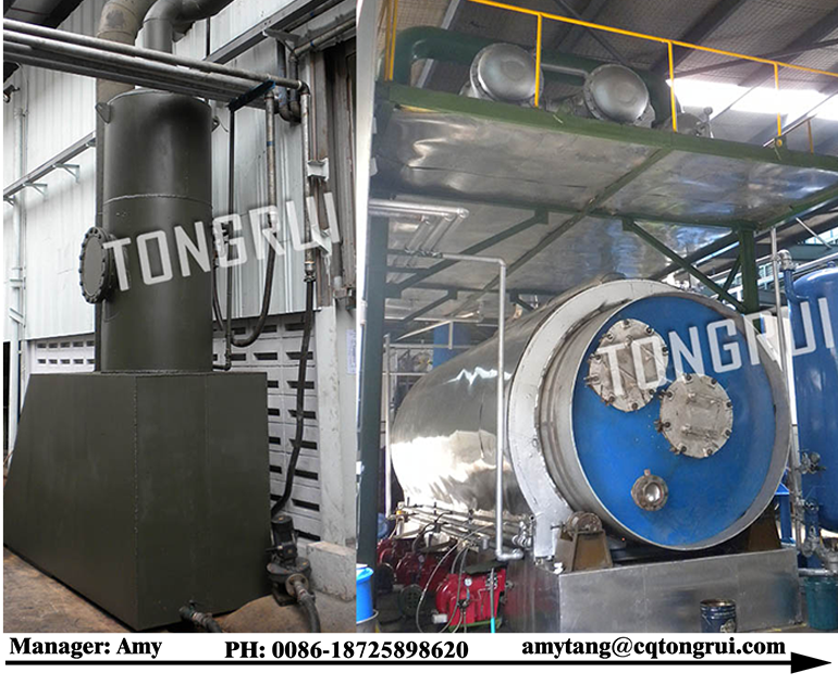 Waste oil to diesel fuel filtration plant for bad oil for Waste motor oil to diesel
